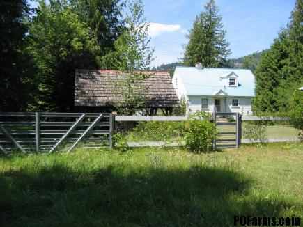 REAR OF HOUSE AT PEND OREILLE FARMS NORTH
